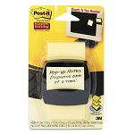"Super Sticky Pop-up Note Dispenser for 2"" x 2"" Self-Stick Notes Black Base (MMMR220SS)"