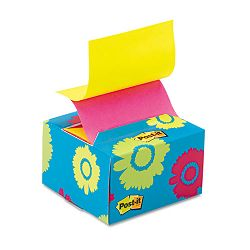 "Pop-up Notes in a Desk Grip Decorative Box 3"" x 3"" Daisy (MMMB330BD)"