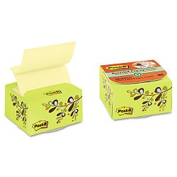 "Recycled Pop-up Notes in a Desk Grip Decorative Box 3"" x 3"" GreenLeaf Design (MMMB330EDGN)"