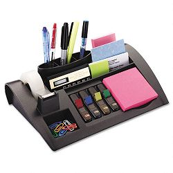 "Notes Dispenser with Weighted Base Plastic 12"" x 8"" x 2"" Charcoal Gray (MMMC50)"