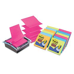 "Super Sticky Pop-up Dispenser Value Pack 3"" x 3"" Assorted (MMMDS330SSVA)"