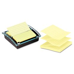 "Super Sticky Pop-up Note DispenserValue Pack 4"" x 4"" Self-Stick NotesBlack (MMMDS440SSVP)"