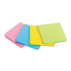 "Full Adhesive Notes 3"" x 3"" Assorted Bright Colors 4Pack (MMMF3304SSAU)"