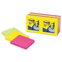 "Pop-Up Note Refills 3"" x 3"" Five ULettera Colors 12 100-Sheet PadsPack (MMMR33012AU)"
