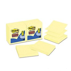 "Super Sticky Pop-Up Refill 3"" x 3"" Canary Yellow 12 90-Sheet PadsPack (MMMR33012SSCY)"