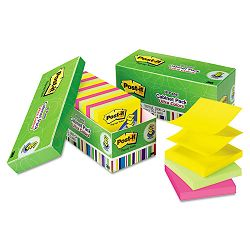 "ULettera Pop-Up Note Refills 3"" x 3"" Assorted Colors 18 100-Sheet PadsPack (MMMR33018AUCP)"