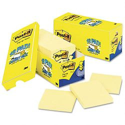 "Cabinet Pack Pop-up Notes 3"" x 3"" Canary Yellow 18 90-Sheet PadsPack (MMMR33018CP)"