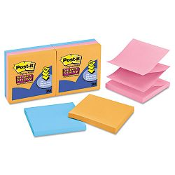 "Pop-Up Refill 3"" x 3"" 4 Electric Glow Colors 6 90-Sheet PadsPack (MMMR3306SSAN)"