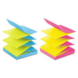 "Pop-Up Refills 3"" x 3"" 4 Alternating ULettera Colors 12 100-Sheet PadsPack (MMMR330UALT)"
