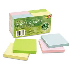 "100% Recycled Notes 3"" x 3"" Four Colors 12 100-Sheet PadsPack (RTG26704)"