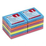 "Fan-Folded Pop-Up Notes 3"" x 3"" 5 Colors 12 100-Sheet PadsPack (UNV35611)"