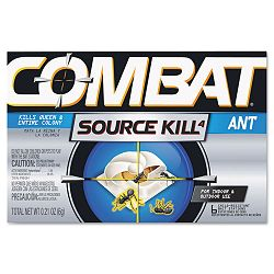 Combat Ant Killing System Child-Resistant Kills Queen & Colony Box of 6 (DPR45901)