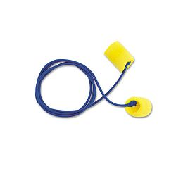 Classic Ear Plugs Corded PVC Foam Yellow Box of 200 Pairs (MMM3111101)