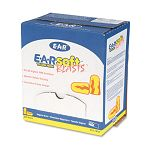 E-A-Rsoft Ear Plugs Uncorded Foam Yellow NeonRed Flame Box of 200 Pairs (MMM3121252)