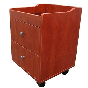 Pedicure Trolley - Pearwood Finish with Sparkle Glass Top (AN9005)