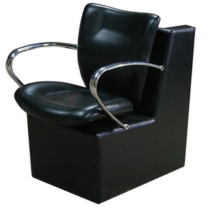 Dryer Chair with Rounded Chrome Arms (PL752)