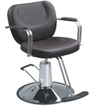 Modern Styling Chair With Round Hydraulic Base Black (PL450)