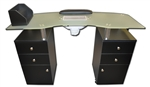 Britta Manicure Table with Vented Frosted Glass Top (AN941)