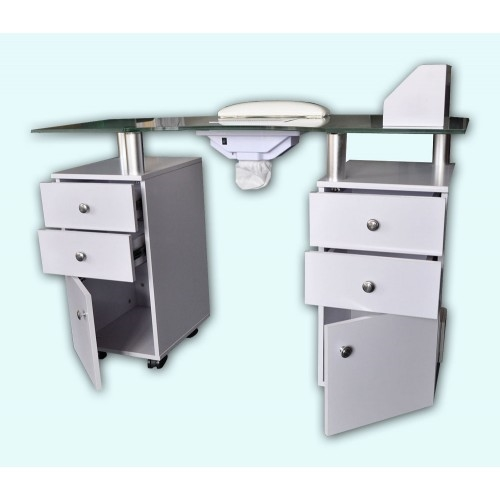 AddThis Sharing Buttons. Britta Manicure Table with Vented Frosted Glass Top  AN941