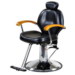 Johanna All Purpose Reclining Styling Chair with Hydraulic Round Base (APC335-BLK)