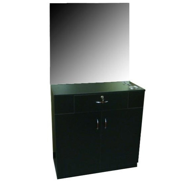 Sonja Single Styling Station - Choice of Black or Cherry or Pearwood (ST1117)