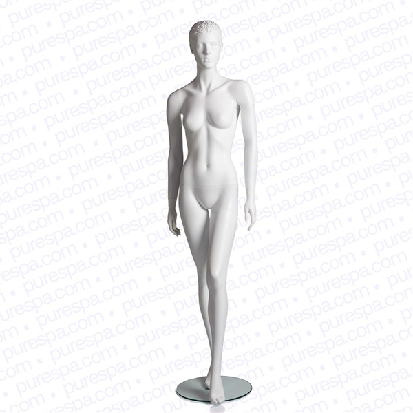 Full Female Mannequin with Molded Hair - Matte White (RPFMW-11)