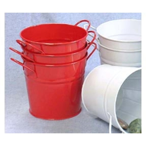"6.5"" Pail with Side Handles Red (BY08-1R )"