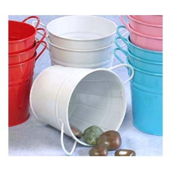 "6.5"" Pail with Side Handles White (BY08-1W )"