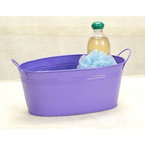 "12"" Purple Painted Oval Tub with Side Handles (BY14-1PR )"