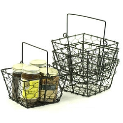 "6"" Black Wire Square Basket (SY223-1BLK)"