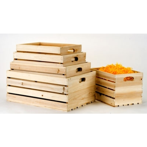 Nested Wooden Crates Set of 5 (83584W)