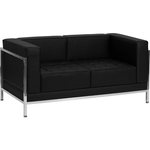 "Reception Love Seat with Exo Frame 57"" Wide by BIGA (ZB-IMAG-LS-GG)"