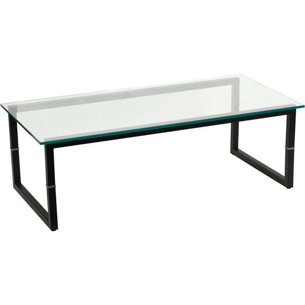 "Glass Coffee Table 47""W X 23.5""D by BIGA (FD-COFFEE-TBL-GG)"