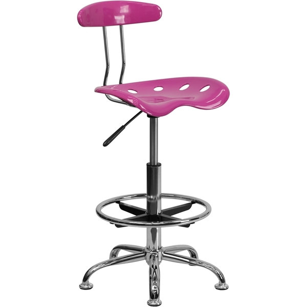 Tractor Stool with Backrest and Footrest Candy Heart by BIGA (LF-215-CANDYHEART-GG)