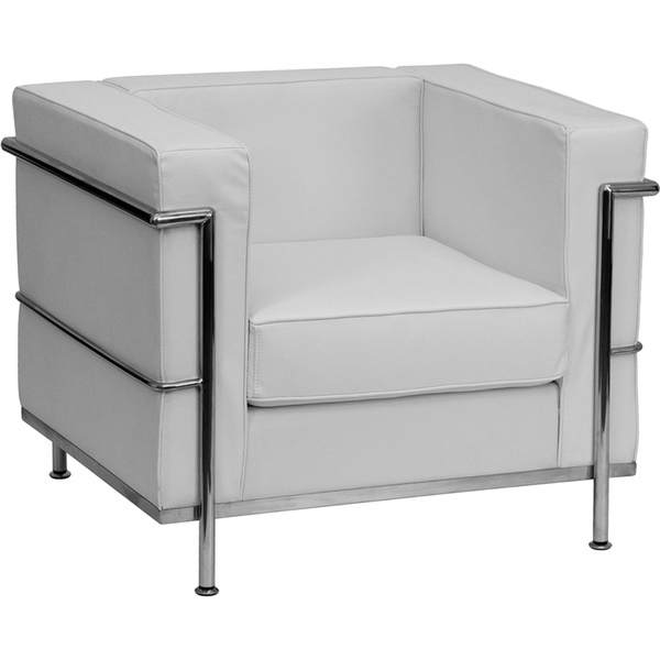 Bre Series Reception Chair White by BIGA (ZB-REGAL-810-1-CHAIR-WH-GG)