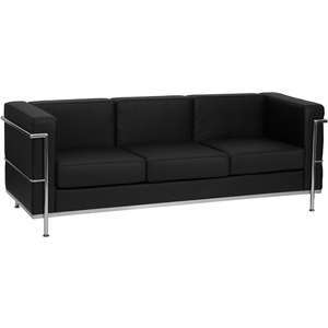 Bre Series Reception Sofa Black by BIGA (ZB-BRETTFORD-810-3-SOFA-BK-GG)