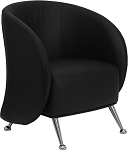 Je Series Reception Chair Black by BIGA (ZB-JET-855-BLACK-GG)