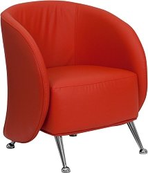Je Series Reception Chair Red by BIGA (ZB-JET-855-RED-GG)