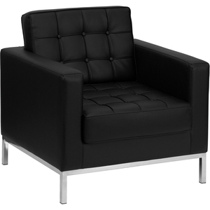 Lac Series Reception Chair Black by BIGA (ZB-LACEY-831-2-CHAIR-BK-GG)