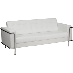 Les Series Reception Sofa White by BIGA (ZB-LESLEY-8090-SOFA-WH-GG)