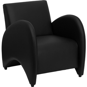Pat Series Reception Chair Black by BIGA (ZB-PATRICIAN-BLACK-GG)