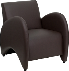 Pat Series Reception Chair Brown by BIGA (ZB-PATRICIAN-BROWN-GG)