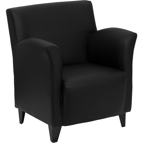 Rom Series Reception Chair Black by BIGA (ZB-ROMAN-BLACK-GG)