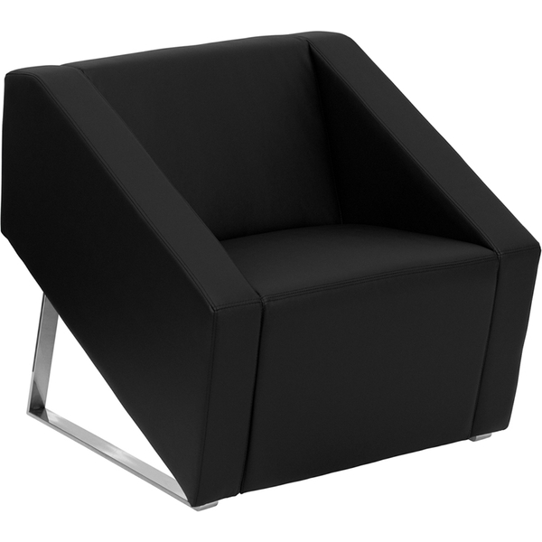 Sma Series Reception Chair Black by BIGA (ZB-SMART-BLACK-GG)