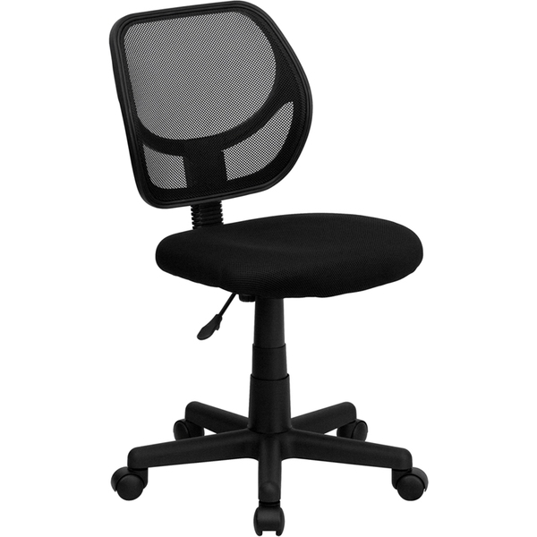 Mid-Back Black Mesh SpaSalon Technician Chair by BIGA (WA-3074-BK-GG)