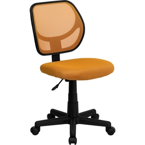 Mid-Back Orange Mesh SpaSalon Technician Chair by BIGA (WA-3074-OR-GG)