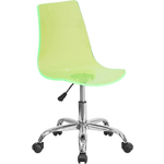 Cleary Transparent Green Acrylic Task Chair with Chrome Base by BIGA (CH-98018-GN-GG)