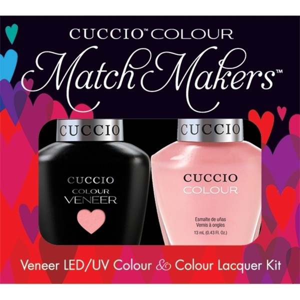 Cuccio Match Makers - Parisian Pastille Kit - 1 Nail Lacquer + 1 Matching Veneer Soak Off LEDUV Nail Colour 0.43 oz. Each (663246)