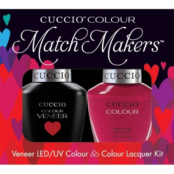 Cuccio Match Makers - Heart & Soul Kit - 1 Nail Lacquer + 1 Matching Veneer Soak Off LEDUV Nail Colour 0.43 oz. Each (663251)