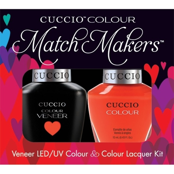 Cuccio Match Makers - Shaking My Morocco Kit - 1 Nail Lacquer + 1 Matching Veneer Soak Off LEDUV Nail Colour 0.43 oz. Each (663254)